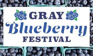 Gray Blueberry Festival Sign